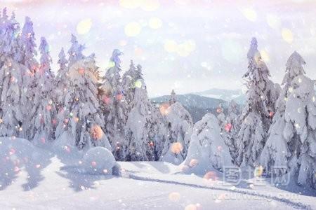 真正的雪屋房子在冬季喀尔巴泰山脉背景上有