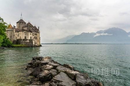 莱曼湖云蒙特勒瑞士